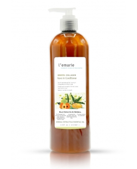 Collagen and Keratin Silk Leave In Hair Conditioner + Intense Curl Cream for Curly Hair – 15oz.