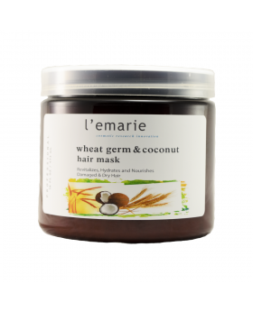 Wheat Germ and Coconut Hair Mask - 16 oz - Deep Conditioner Treatment