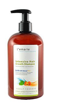 L'emarie Hair Growth Hair Loss + Anti Dandruff Shampoo With Biotin Caffeine Apple Cider Vinegar Tea Tree Oil | Thicker Fuller Longer Healthier Hair For Men and Women 16 oz